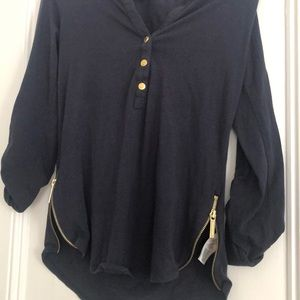 MICHAEL Michael Kors Tops - Michael Kore Navy cotton long sleeve